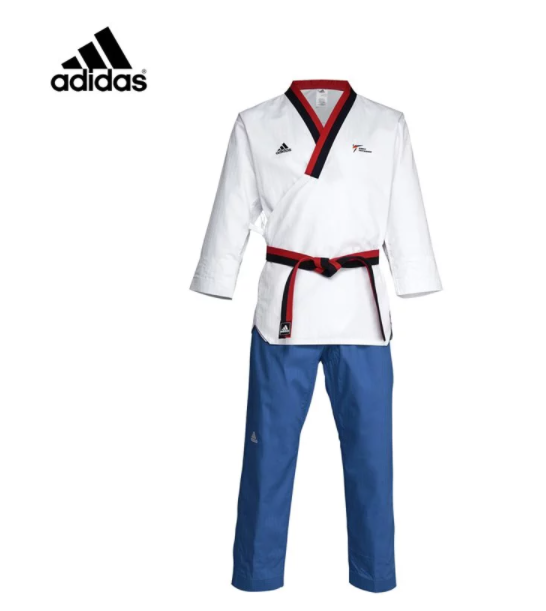 adidas 新款WT認證 兒童男生品勢道服 1